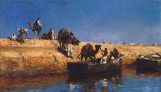 Edwin Lord Weeks (American, 1849-1903)  Un embarquement de chameaux sur la plage de Salé, Maroc  signed and dated 'E. L. Weeks 1880' (lower left)  oil on canvas  36 x 61 in. (91.5 x 155 cm.)  Painted in 1880 I Christie's Sale 1717