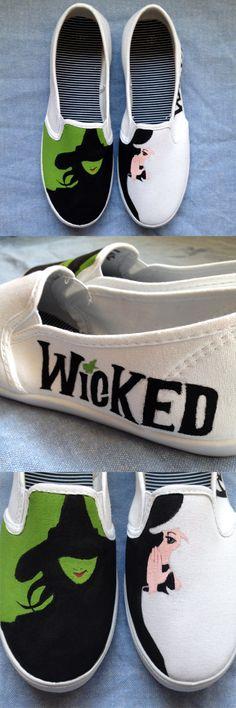 bbac0f3190 Custom painted Wicked shoes Minimalist Artwork