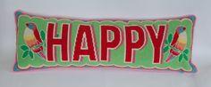 Happy cross stitch kit  large by emilypeacocktapestry on Etsy