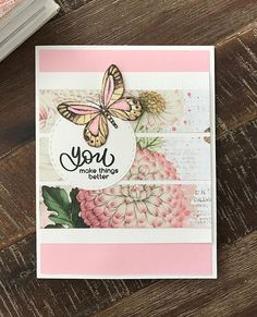 Lovin' all the butterfly stamps in the June card kit! Sending Hugs, Cool Things To Make, How To Make, Simple Stories, Butterfly Cards, Simon Says Stamp, Card Maker, Card Kit, Beautiful Butterflies