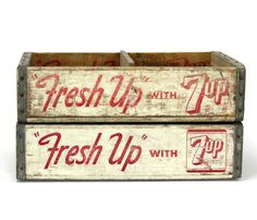 Fresh Up Wooden Crates. LOVE these, and want them for my craft fair booth