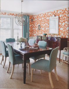 Love this dining room via Christina Murphy- so today traditional