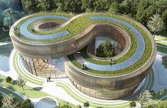 Energy efficient villas in Kunming by vincent callebaut #architecture