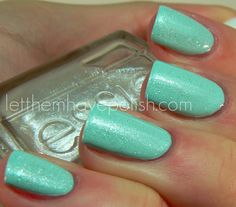 love this color - light blue polish