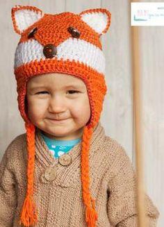 Gratisanleitung Fuchsmütze: Die süße Fuchs-Mütze ist ein schöner Blickfang und ein wärmendes Accessiore für den Winter