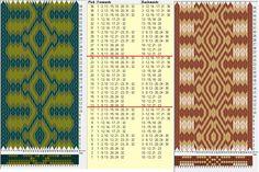 32 tarjetas, 3 colores, repite cada 12 movimientos // sed_703 diseñado en GTT༺❁