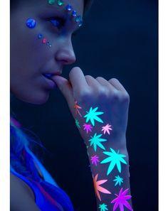 BlacKlight Body Stickerzzz #DollsKill #Blacklight #EDC #marijuana #weed #body #stickers