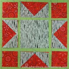 Evening Star Quilt Block Tutorial - 4 , 6 , 8 , 10  and 12  blocks ... : evening star quilt block pattern - Adamdwight.com