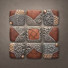 Pinwheel Pattern: Christopher Gryder: Ceramic Wall Art | Artful Home