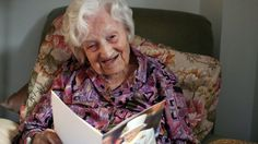 The UK's oldest person, Gladys Hooper, who was born in the same year the Wright…
