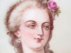 SEVRES 1846 FRANCE CHATEAU DES TUILERIES PORCELAIN PLATE MADAME DU BARRY GOLD #SEVRES1846CHATEAUDESTUILERIES