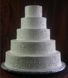 """At first I wanted to call it """"minimalistic,"""" but then I looked at the gorgeous designs and realized it's anything but. (Konditor Meister Elegant Wedding Cakes)"""