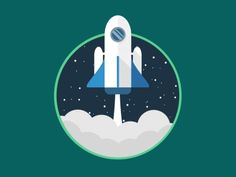 "Another bloody rocket animation A badge you receive after completing the set up process of an app. ""We have lift off"" Animated Icons, Animated Gif, Gifs, Vector Animation, Adobe Animate, Web Design, Flat Design, Space Illustration, Silhouette Clip Art"