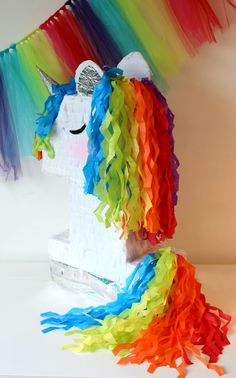 This Unicorn Pinata is Beautiful !!! You will love its hair and Style  It is really different from all the pinatas youll see around!  -We offer this UNICORN PINATA  in every number 1-9. Choose your number and pinata style in the drop-down menu. Our best deals are our PINATA BUNDLES
