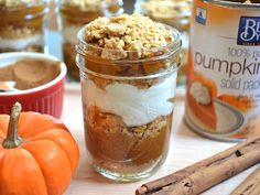 Pumpkin Yogurt Parfaits  (pumpkin pie flavor minus all of the work and all of the guilt)