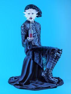 //alma vampírica// foto + edição: paul kurucz/ modelo: alma negrot/ styling: natalia silvestre, alma negrot/ dir. art: paul kurucz/ beleza: walter lobato, julia nunes, andressa pontes, gabriel ramos/ roupas e acessorios: fernando cozendey, déh dullius, alma negrot/ producão: diana daou + tamires melo + lara ferro #fashion #dob/ra #kolorrio #surrealism #blueart #art #paulkurucz #photography