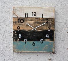 Reclaimed Wall Clock. Rustic Beach House Decor. by terrafirma79