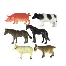FARM ANIMALS 6PC Free Range, Farm Animals, Header, Moose Art