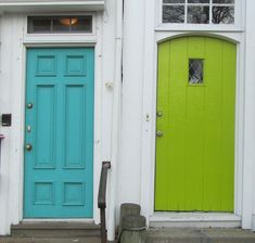 I want a turquoise or a lime green door.