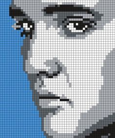 Elvis_Presley_(square) by Maninthebook on Kandi Patterns The Effective Pictures We Offer You About Stitching art A quality picture can tell you many things. You can find the most beautiful pictures th Kandi Patterns, Perler Patterns, Beading Patterns, Cross Stitch Charts, Cross Stitch Designs, Cross Stitch Patterns, Pixel Crochet, Crochet Chart, C2c Crochet