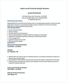 Accounting Analyst Resume Best Financial Analyst Resume Sample  Financial Analyst Sample Resume .