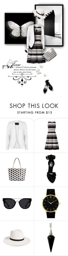 """""""Mix It Up"""" by truthjc ❤ liked on Polyvore featuring River Island, Kate Spade, Alexander McQueen, Quay and BlackMoon"""