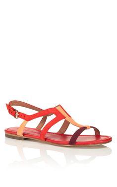 Sigerson Morrison Red Kimora Sandal