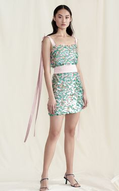 Click Product to Zoom Markarian Chameleon Paillette Silk Mini Dress ColorGreen CAD Best Designer Dresses, Silk Mini Dress, Feminine Dress, Kpop Outfits, Queen, Beautiful Gowns, Women's Fashion Dresses, Ball Gowns, Evening Dresses