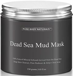 Amazon.com : THE BEST Dead Sea Mud Mask, 250g/ 8.8 fl. oz. - Dead Sea Mud Mask Best for Facial Treatment, Minimizes Pores, Reduces Wrinkles, and Improves Overall Complexion - Dead Sea Minerals Help to Pull Toxins Out of the Skin - Facial Mask Provides Relief from Acne, Blackheads, Pimples, Acne Scars and Cellulite - Safe for Use on Face and Body - Premium Spa Quality Dead Sea Product - Skin Cleanser, Pore Reducer & Natural Moisturizer : Beauty