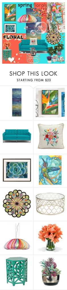 """SPRING IN THE TROPICS"" by kalenalexis ❤ liked on Polyvore featuring interior, interiors, interior design, home, home decor, interior decorating, Robert A. Brown and Anne Moran, Grandin Road, Joybird and Karma Living"