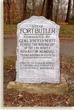 Fort Butler Marker - Trail of Tears - Cherokee North Carolina, Cherokee Tribe, Native American Cherokee, Native American Pictures, Western North Carolina, North Carolina Mountains, North Carolina Homes, Native American History, American Indians