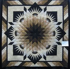Beautiful. I am getting to be a fan of Brown, black, cream and white on quilts. Very stunning. by Judth Robertson