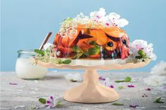 A midsummer night's dream jelly is straight out of a fantasy world. This gorgeous pudding is full of fruity flavour and perfect for a warm gathering.