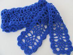 Sweet Lorraine Lace Scarf: free #crochet pattern