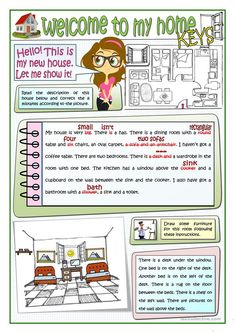 WELCOME TO MY HOME worksheet - Free ESL printable worksheets made by teachers