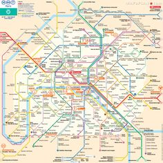 Paris top tourist attractions map Metro plan RER rapid transport tram subway underground tube stations