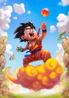 Dragon Ball - Son Goku by Rodrigo Pascoal Wizyakuza Anime, Fan Art, Kid Goku, Dragon Ball Gt, Anime Art, Geronimo, Graffiti, Geek, Behance