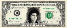 Michael Jackson on a Dollar Bill