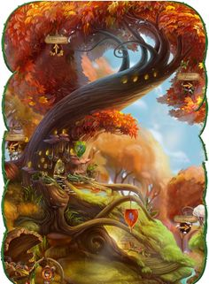 Changing of the Leaves Maple Tree Hill Decor.png Changing of the Leaves Maple Tree Hill Decor. Tinkerbell Movies, Tinkerbell And Friends, Peter Pan And Tinkerbell, Hades Disney, Disney Art, Fantasy Landscape, Fantasy Art, Pixie Hollow Games, Disney Faries