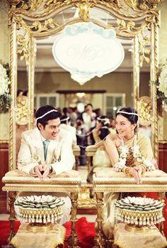 Part of the Thai wedding ceremony