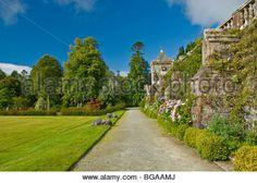 Gardens Torosay Castle nr Craignure Isle of Mull Argyll & Bute Scotland - Stock Image
