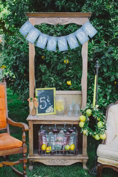 bridal shower lemonade stand // photo by Jen Wojcik Photography