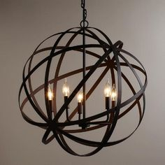 One of my favorite discoveries at WorldMarket.com: Large Metal Orb Chandelier