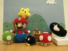 super mario playset, complete with penguin suit!