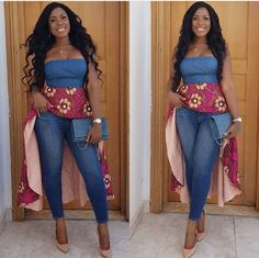 Linda Ikeji on Lovely and beautiful Ankara Top Styles, Ankara Styles, Pregnant Linda Ikeji, African Tops, African Wear, African Women, African Dress, Ankara Peplum Tops, Ankara Blouse, Ankara Styles For Men, Ankara Short Gown Styles, Top Chic