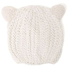 With Love From CA Cat Ear Beanie found on Polyvore