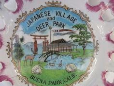 Japanese Village Deer Park Buena Park CA Ceramic Souvenir Plate Purple Gold Vtg | Collectibles, Historical Memorabilia, Fairs, Parks & Architecture | eBay!