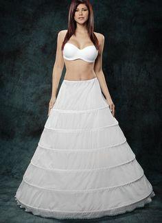 6 Bone Ballgown Petticoat Slip