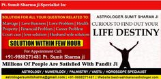 Pt. Sumit Sharma ji is a world famous astrologer in India having vast knowledge of Jyotish and astrology. He is very famous astrologer in India and abroad.