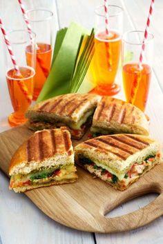 Chicken Panini with Creamy Havarti and Basil Pesto #HavartiParty @arlausa #sponsored